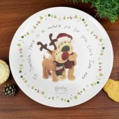 Personalised Boofle Christmas Mince Pie Plate