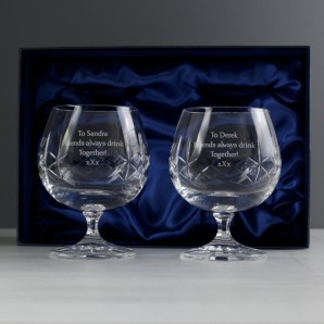 Personalised Crystal Brandy Glasses - Image 1
