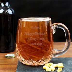 Personalised Pint Crystal Tankard - Image 1