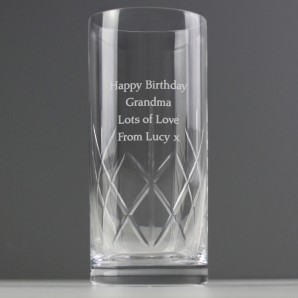 Engraved Crystal Hi Ball Glass - Image 1