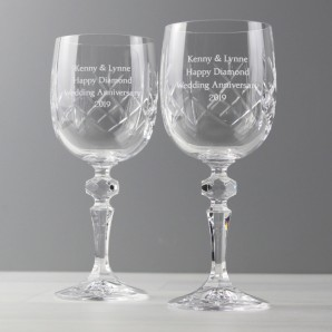 Personalised Crystal Wine Glasses - Image 1