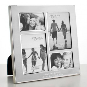 Personalised Silver Multi Photo Frame - Image 1