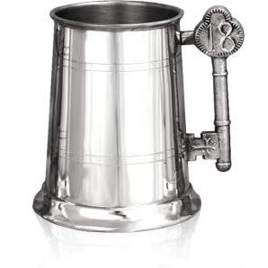 Engraved 18th 1 Pint Pewter Tankard - Image 1