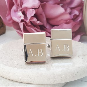 Engraved USB Drive Cufflinks - Image 1