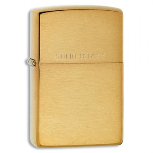 Engraved Brushed Brass Zippo Ligher - Image 1