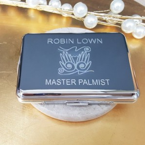 Personalised Silver Plated Business Card Holder - Image 1