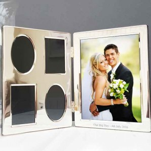 Personalised Silver Collage Hinged Photo Frame - Image 1