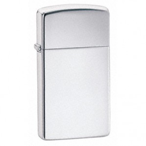 Engraved Slim Polished Chrome Zippo Lighter - Image 1