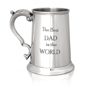 Engraved Best Dad 1Pnt Pewter Tankard - Image 1