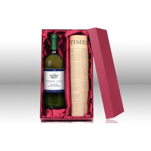Original Newspaper & Personalised White Wine Set - Image 1