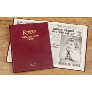 Personalised Anniversary Newspaper Hardback - Image 1