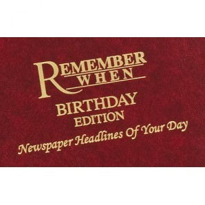 Personalised Birthday Newspaper Hardback - Image 1