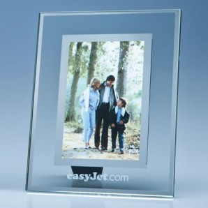 Glass & Silver Mount Personalised Photo frame - Image 1