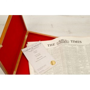 Authentic Newspaper In Wooden Box - Image 1
