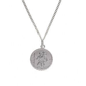 Children's Silver St Christopher In Personalised Gift Box - Image 1