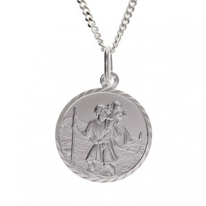 Silver St Christopher In Personalised Gift Box - Image 1