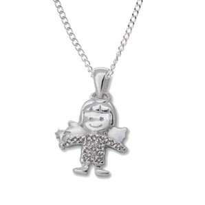 Silver Fairy Necklace In Personalised Box - Image 1