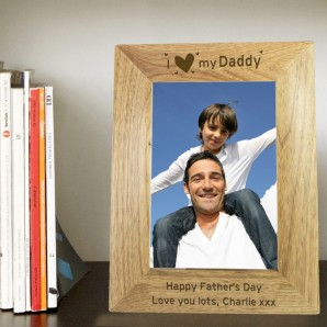 Personalised Oak Picture Frame - I Heart My... - Image 1