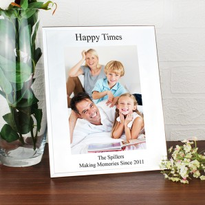 Glass Mirror Bevelled Photo Frame - Image 1