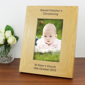Personalised Oak Picture Frame - Image 1