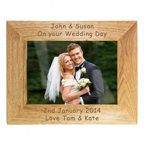 Personalised Wooden Photo Frame - Image 1
