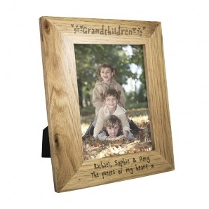 Personalised Oak Picture Frame - Grandchildren - Image 1