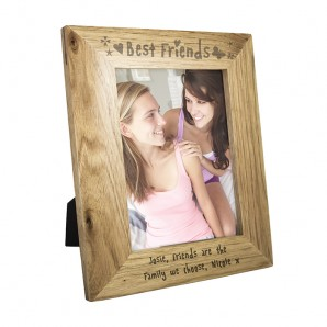 Personalised Oak Picture Frame - Best Friends - Image 1