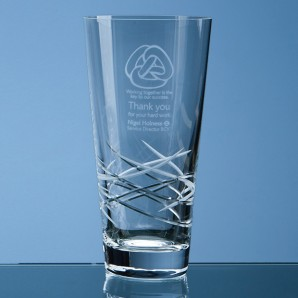 Engraved  Traditional Crystal Vase - Image 1