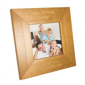 Personalised Wooden Square Photo Frame - Image 1
