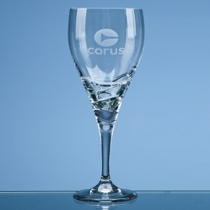 Personalised Modern Crystal Wine Glass - Image 1