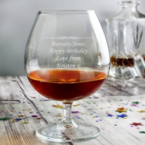 Personalised Balloon Brandy Glass - Image 1
