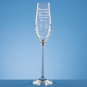 Personalised Swarovski Crystal Champagne Glass - Image 1