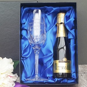 Personalised Crystal Champagne Glass And Champagne   - Image 1