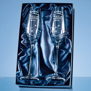 Personalised Swarovski Crystal Champagne Glasses  - Image 1