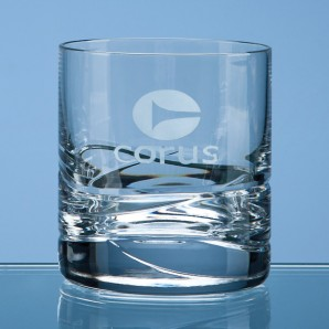 Engraved Crystal Whisky Tumbler  - Image 1