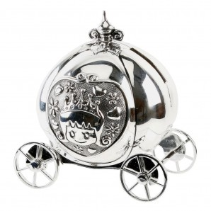 Silver Plated Cinderella Coach Money Box - Image 1