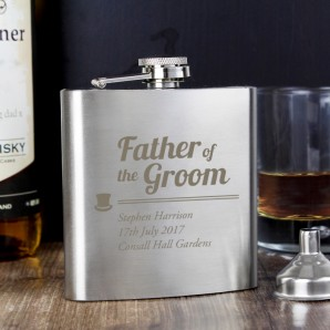 Personalised Father of the Groom Hip Flask - Image 1