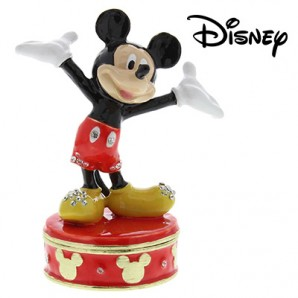Disney Classic Personalised Trinket Box, Mickey Mouse - Image 1