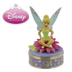 Disney Personalised Trinket Box, Tinkerbell - Image 1