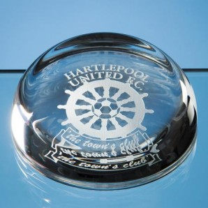 Personalised Lead Crystal Domed Paperweight - Image 1