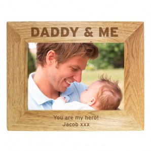 Personalised Wooden 'Daddy & Me' Photo Frame - Image 1