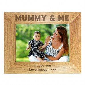 Personalised Wooden 'Mummy & Me' Photo Frame - Image 1