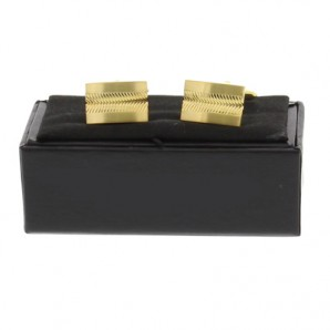 Personalised Gold Plated Zigzag Design Cufflinks - Image 1