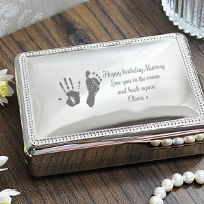 Personalised Imprint Silver Jewellery Box - Image 1