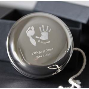 Personalised Imprint Silver Plated Yoyo - Image 1