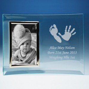 Personalised Imprint Curved Glass Photo Frame - Image 1