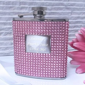 Personalised Diamanté Hip Flask - Image 1
