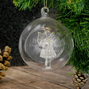 Personalised Glass Angel Bauble - Image 1