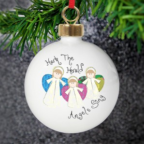 Personalised Nativity Angels Bauble - Image 1