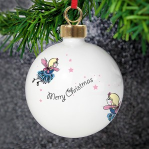 Personalised Funky Fairy Christmas Bauble - Image 1